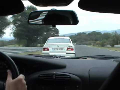 Nurburgring - Sabine drives a E39 M5 and is followed by a Swedish Porsche 911 GT3. m5board.com Director: Gustav.
