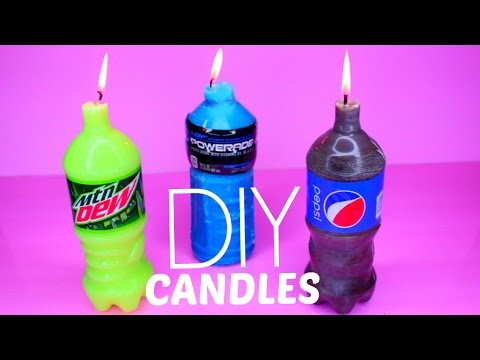 How To Make Mountain Dew, Pepsi and Powerade Candles DIY