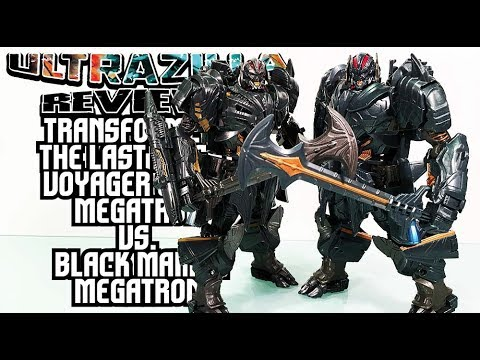 TRANSFORMERS THE LAST KNIGHT VOYAGER CLASS MEGATRON VS. BLACK MAMBA SAVIOR MEGATRON REVIEWS!
