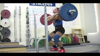 Weightlifting training footage of Catalyst weightlifters. Jessica halting clean deadlift, Tamara snatch, Jessica front squat, Brian snatch pull. - Weigh