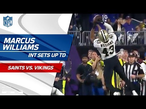 Video: Williams Picks Off Keenum, Sets Up Michael Thomas' 2nd TD! | Saints vs. Vikings | NFL Divisional HLs