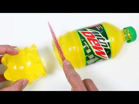 How to Make a Mountain Dew Gummy Soda Bottle Shape!