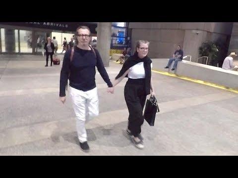 Academy Award Winner Gary Oldman Arrives At LAX With Wife Gisele Schmidt