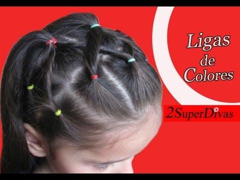 peinados de ligas - www.2superdivas.com - Peinados y Accesorios Como hacer un peinado en ligas o cauchos. En este tutorial de peinados 2SuperDivas te enseña paso a paso como pei...
