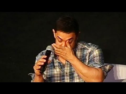What made Aamir Khan choke up at a press conferenc