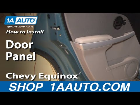 How To Install Replace Rear Door Panel Chevy Equinox 05-09 1AAuto.com