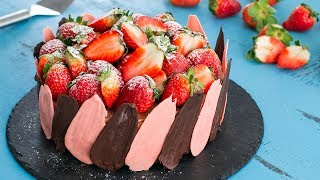 Brownie Strawberry Chocolate Cheesecake