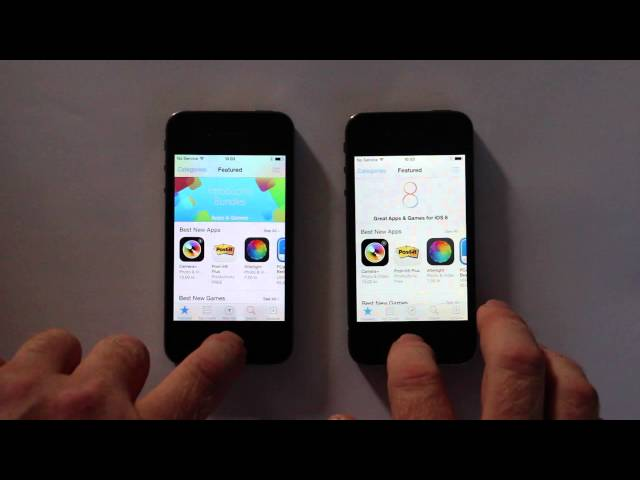 Porovnání rychlosti iOS 8.0.2 a 7.1.2 na iPhonu 4S (Video)