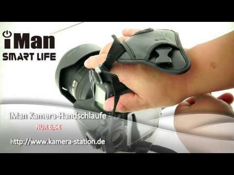 iMan Kamera-Handschlaufe Handgriff Hand Strap Grip (universal passend) schwarz/ nikon 700D TEST