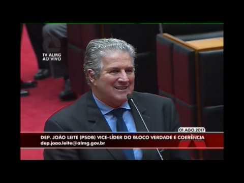 Deputado João Leite faz uma homenagem a Darci Barbosa