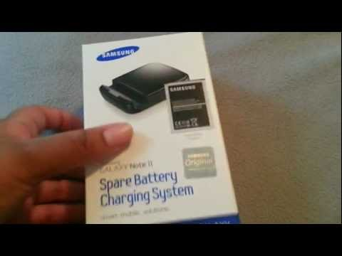 Galaxy Note II Samsung Spare Battery Charging System