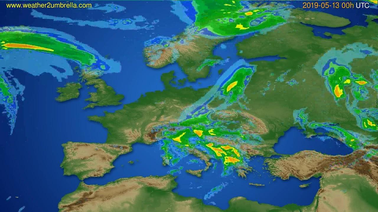 Radar forecast Europe // modelrun: 12h UTC 2019-05-12