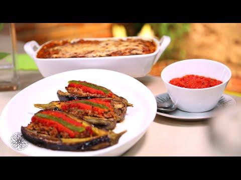Gratin d'aubergines et Aubergines farcies à la viande hachée