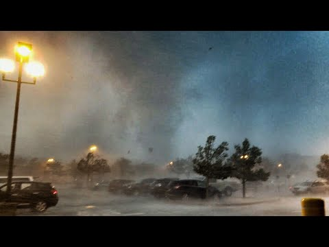Tornado in New Jersey parking lot yesterday morning.