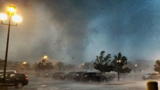 Tornado touches down in Howell, N.J. on the morning of June 24, 2017.