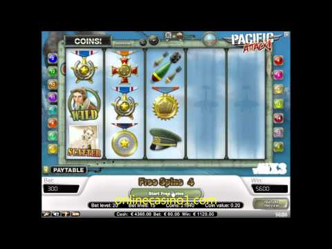 Free Spin on Pacific Attack slot