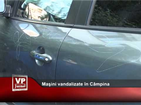 Maşini vandalizate în Câmpina