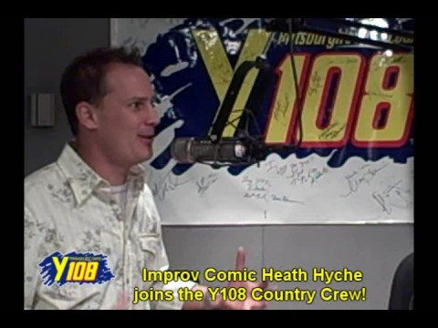 Comic Heath Hyche visits the Y108 Country Crew.