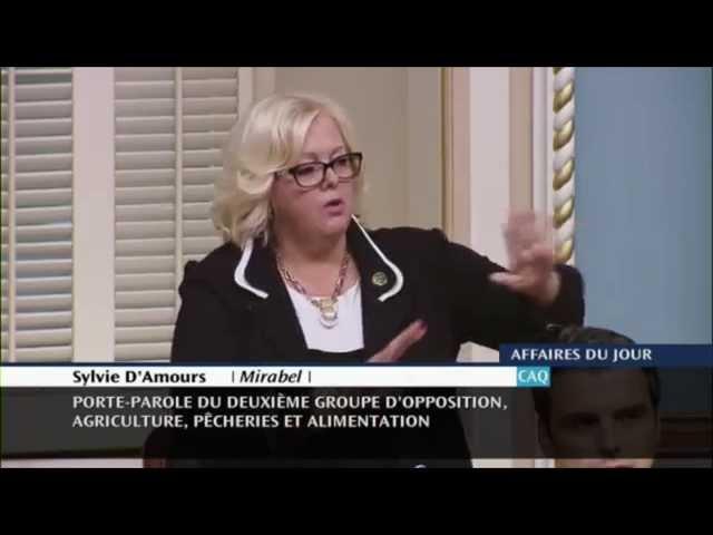 Sylvie D'Amours réclame le maintien intégral de la gestion de l'offre