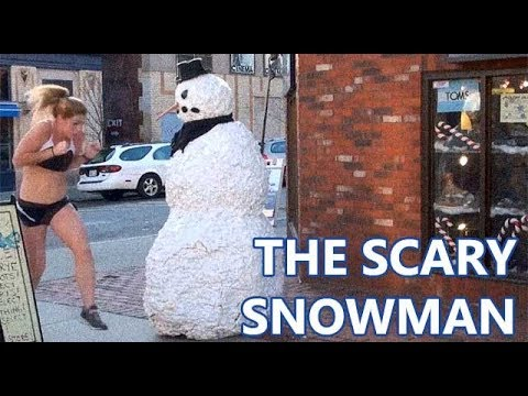 Funny Scary Snowman Prank (Season 4 Episode 7)