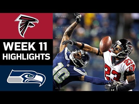 Falcons vs. Seahawks | NFL Week 11 Game Highlights (видео)
