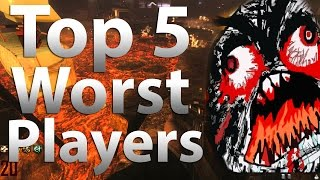 TOP 5 Worst Zombies Players in 'Call of Duty Zombies' - Black Ops 2 Zombies, Black Ops & WaW