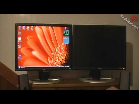 single monitor - This video shows you how to hook up 2 monitors to 1 PC. Music courtesy of incompetech.com.