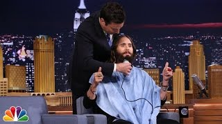 Jimmy Trims Jared Leto's Beard - YouTube