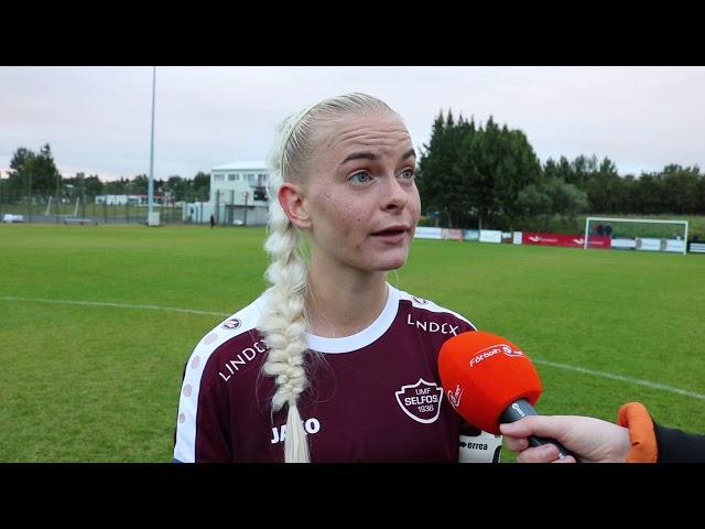 Anna María: Við settum upp 5 leikja mót