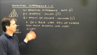 Simple Electricity Calculations V= E/Q Part 3
