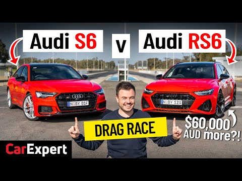 Audi RS6 v S6 Dragparison: Is the RS6 worth $60,000 extra? Drag race & sound tests!