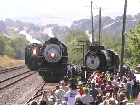 Chasing the Union Pacific 844 Steam Locomotive