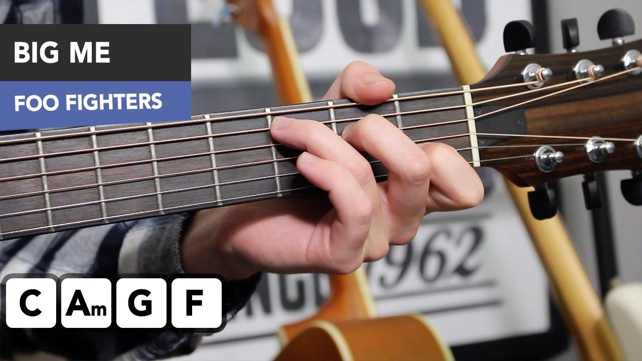 Foo Fighters – Big Me Guitar Lesson Tutorial – EASY simple songs