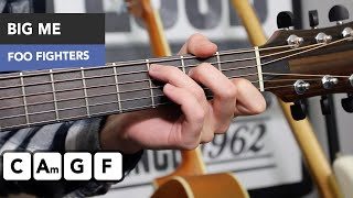 Foo Fighters - Big Me Guitar Lesson Tutorial - EASY simple songs