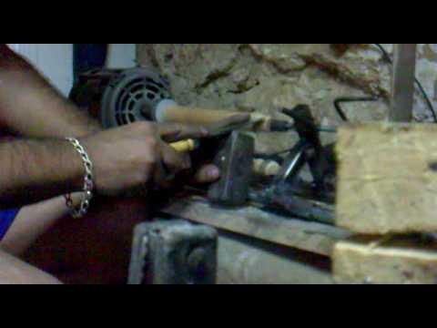 torno madera casero motor lavadora