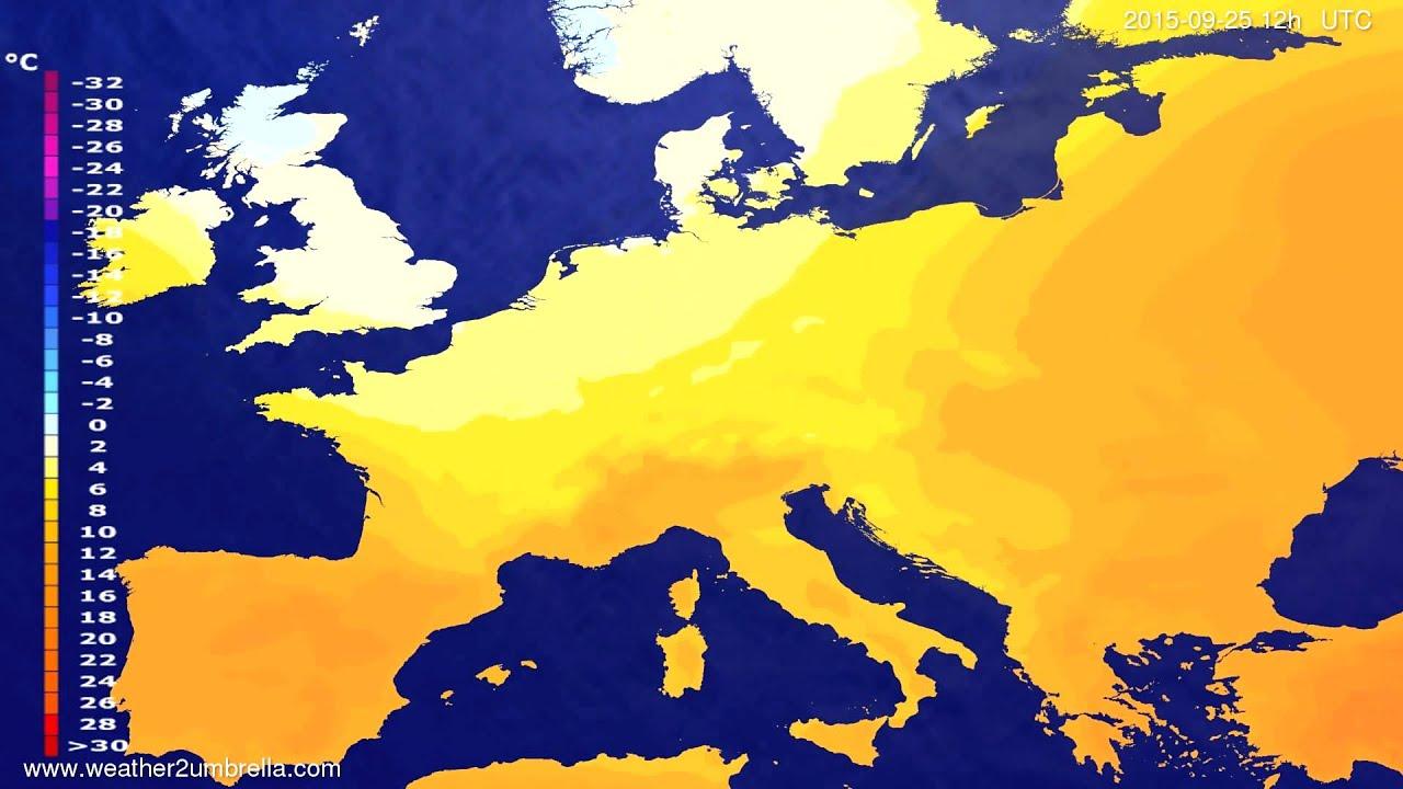 Temperature forecast Europe 2015-09-23