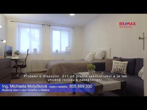 Video Prodej rodinného domu v obci Vinařice u Kladna