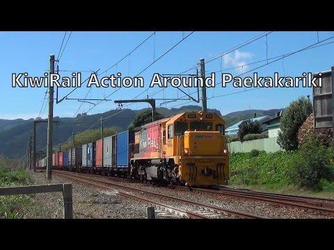 KiwiRail Action Around Paekakariki - 1/10/2014 (HD)
