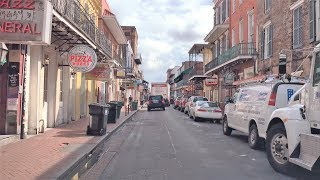 New Orleans (LA) United States  city photo : Driving Downtown - Bourbon Street - New Orleans USA