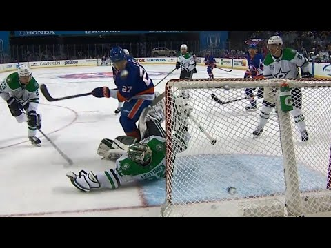Video: Stars' Lehtonen robs Islanders' Tavares but Lee bats puck out of air to score