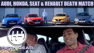 Honda Civic Type R, Seat Leon Cupra R, Renaultsport Megane, Audi S3 Sportback - FULL DEATHMATCH by Fifth Gear