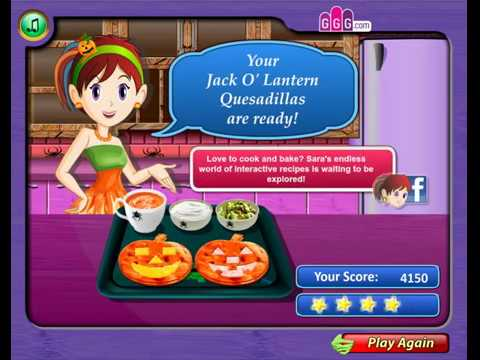 Jack-O-Lantern Quesadillas - Cooking Games For Kids