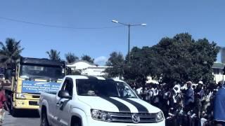 (Quelimane) Desfile alusivo ao 1 de Maio, dia Internacional dos Trabalhadores