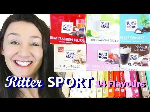 German Ritter Sports Mega TasteTest