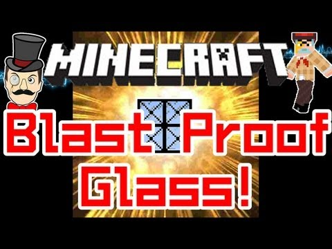 Minecraft Mods - BLAST PROOF GLASS Mod ! Reinforce Your House with Obsidian Armor !