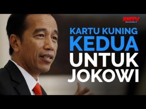 Kartu Kuning Kedua Untuk Jokowi
