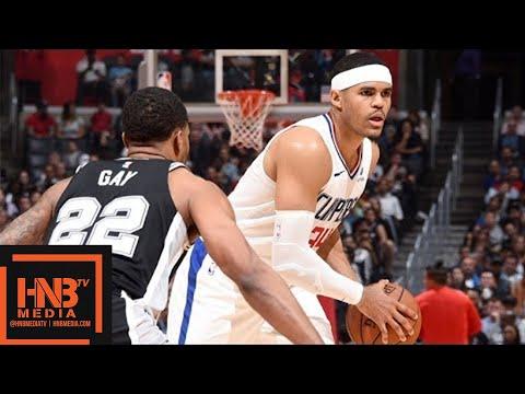 San Antonio Spurs vs LA Clippers Full Game Highlights / April 3 / 2017-18 NBA Season (видео)