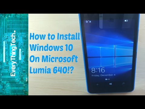 Video how to install windows 10 on Microsoft Lumia 640!? download in MP3, 3GP, MP4, WEBM, AVI, FLV January 2017