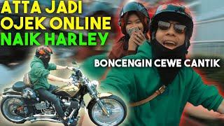 Download Video ATTA Jadi OJEK ONLINE! Naik HARLEY... MP3 3GP MP4