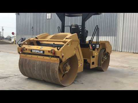 CATERPILLAR VIBRATORY DOUBLE DRUM ASPHALT CB54 equipment video Jua1azvlSx4